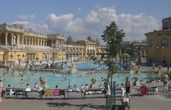 Balneario Budapest de Széchenyi Imágenes de archivo libres de regalías