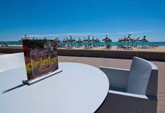 Balneario cafe Playa de Palma Stock Photo