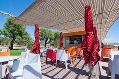 Balneario cafe Playa de Palma Royalty Free Stock Images