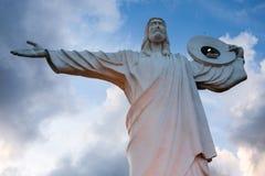 Balneario Camboriu, Brasilien - November 2, 2017: Cristo Luz statistik arkivfoto