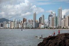 Balneario Camboriu - il Brasile Immagini Stock Libere da Diritti