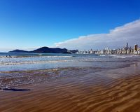 Beach spa. Balneário Camboriú, located on the north central coast of Santa Catarina, is one of the most visited tourist destinations in Brazil Stock Photography
