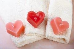 Balneario de la tarjeta del día de San Valentín Imagen de archivo libre de regalías