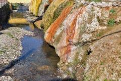 Balneario de las aguas termales en Sklene Teplice, Eslovaquia Fotos de archivo