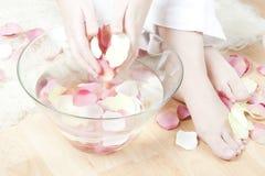 Balneario de los pétalos de Rose Foto de archivo libre de regalías