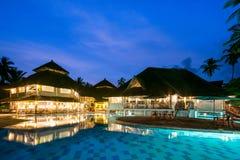 BALNEARIO del centro turístico del hotel de lujo en Kenia fotografía de archivo