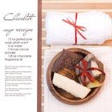 Balneario del jabón del chocolate imagen de archivo