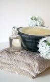 Balneario natural del cuarto de baño foto de archivo libre de regalías