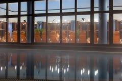 Balneario por noche foto de archivo