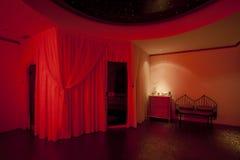 Balneario privado rojo Foto de archivo