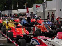 Balneario - raza de Renault de la fórmula de Francorchamps Bélgica Fotografía de archivo