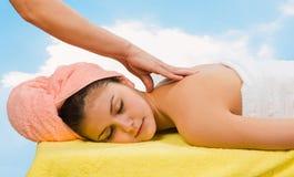 Balneario Relaxing.Massage Fotografía de archivo