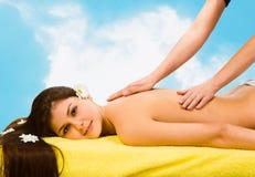 Balneario Relaxing.Massage Imagen de archivo libre de regalías