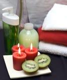 Balneario rojo y verde Imagen de archivo