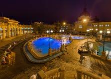 Balneario termal del baño de Szechnyi en Budapest Hungría Imagen de archivo