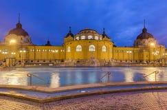 Balneario termal del baño de Szechnyi en Budapest Hungría Fotografía de archivo libre de regalías