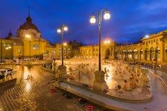 Balneario termal del baño de Szechnyi en Budapest Hungría Fotos de archivo libres de regalías