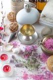 BALNEARIO y accesorios para el masaje oriental Fotos de archivo libres de regalías