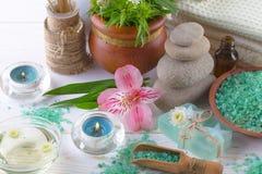 BALNEARIO y accesorios para el masaje oriental Imagen de archivo