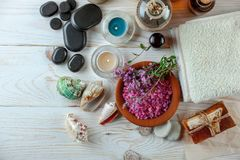 BALNEARIO y accesorios para el masaje oriental Fotos de archivo