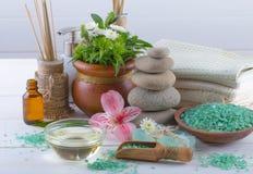 BALNEARIO y accesorios para el masaje oriental Fotografía de archivo libre de regalías