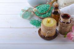 BALNEARIO y accesorios para el masaje oriental Fotografía de archivo