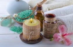 BALNEARIO y accesorios para el masaje oriental Imagen de archivo libre de regalías