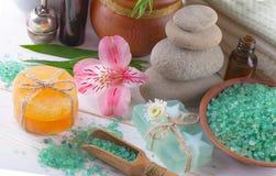BALNEARIO y accesorios para el masaje oriental Imagenes de archivo