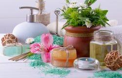 BALNEARIO y accesorios para el masaje oriental Foto de archivo