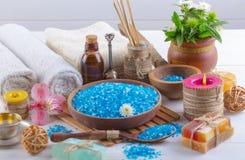 BALNEARIO y accesorios para el masaje oriental Foto de archivo libre de regalías