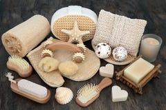 Balneario y productos naturales de Skincare Imágenes de archivo libres de regalías