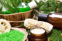 Balneario y productos y accesorios el cuidar en exceso Foto de archivo