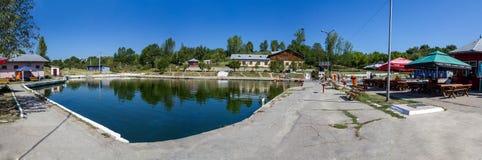Balneary kompleksu panorama   Fotografia Stock