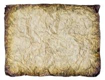 Balnk弄皱了古色古香的纸板料  免版税库存图片
