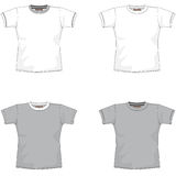 Balnk T-shirt gray. T-shirt layout for presentation - vector Stock Photography