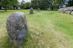 Balnuaran of Clava prehistoric cemetery Stock Photos