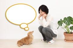 Balão e cães de discurso Fotos de Stock Royalty Free