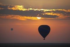Balão em Sunsrise 8821 Fotos de Stock Royalty Free