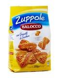 Balocco Zuppole, ciastka z kryształami cukier Fotografia Stock
