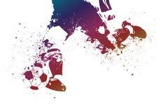 Balompié colorido de Grunge Fotos de archivo
