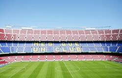 Balompié de FC Barcelona (campo de Nou) Imagen de archivo