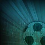 Balompié del fútbol en fondo del rayo Foto de archivo libre de regalías