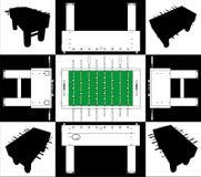 Balompié del vector y vector 01 de la base y de la cara del fútbol Imagenes de archivo