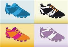 Balompié del zapato del fútbol Fotos de archivo