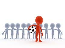 Balompié, personas de fútbol stock de ilustración