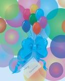 balonów łęku karty boże narodzenia Obrazy Stock