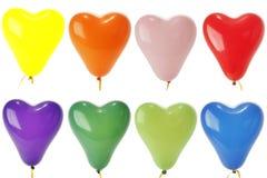 balonów barwionego serca odosobniony biel Fotografia Royalty Free