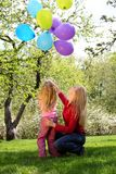 balonów córki matki snop Zdjęcia Stock