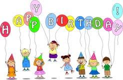 balonów dzieci chwyta wektor ilustracja wektor