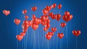 balonów eps8 latający kierowy miłości kształt ty Zdjęcie Royalty Free